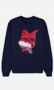 Sweatshirt Blau American Fox