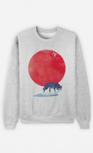 Sweatshirt Red Moon