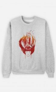 Sweatshirt Burning Forest
