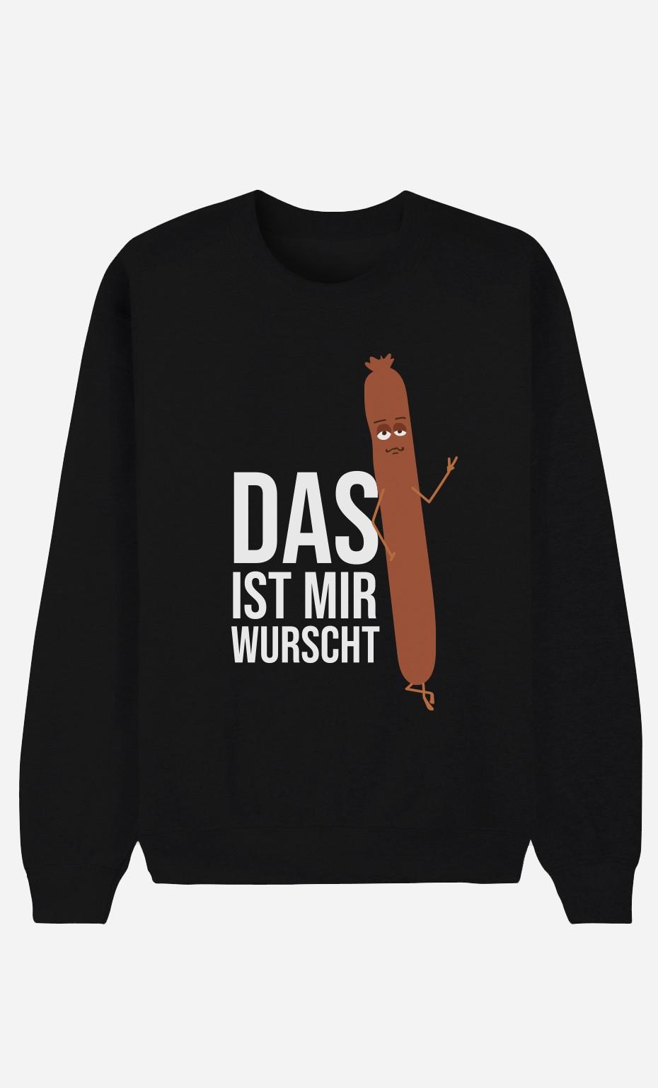 Sweatshirt Schwarz Das ist mir Wurscht