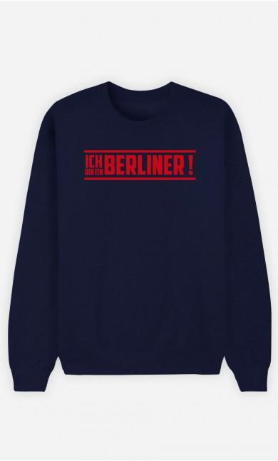 Sweatshirt Blau Ich bin ein Berliner!