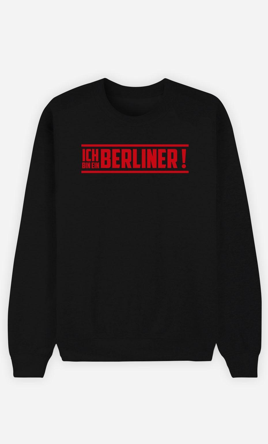Sweatshirt Schwarz Ich bin ein Berliner!
