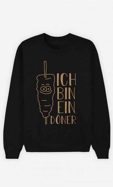 Sweatshirt Schwarz Ich bin ein Döner
