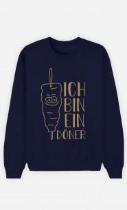 Sweatshirt Blau Ich bin ein Döner