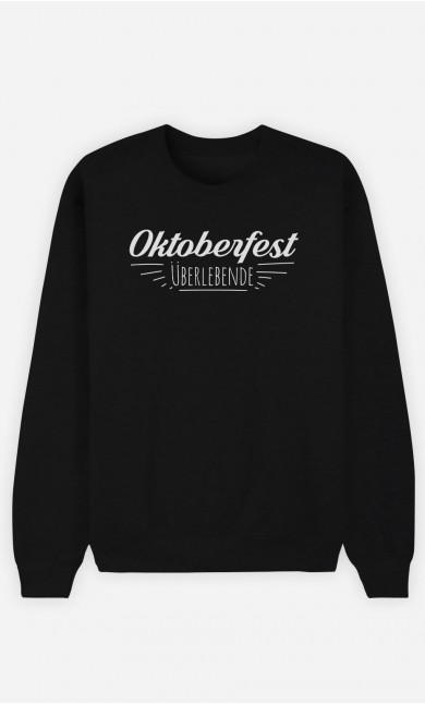 Sweatshirt Schwarz Oktoberfest Überlebende