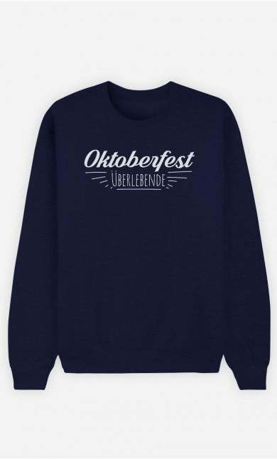 Sweatshirt Blau Oktoberfest Überlebende