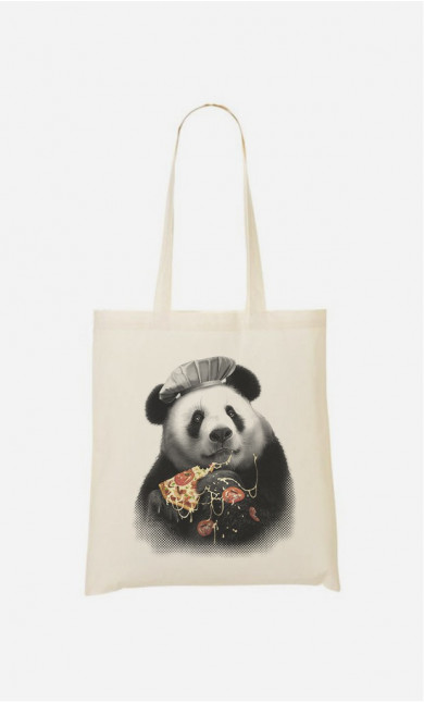 Stoffbeutel Panda Pizza