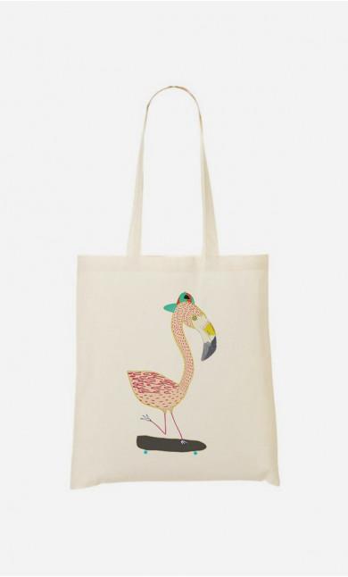 Stoffbeutel Flamingo Skater