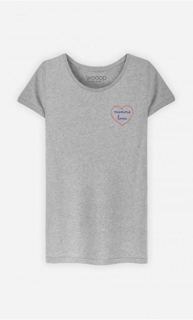 T-Shirt Damen Mamma Lova - Bestickt