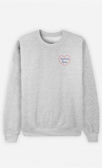 Sweat Damen Mamma Lova - Bestickt