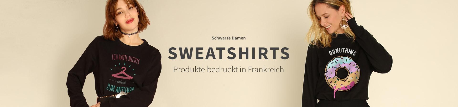 Schwarze Sweatshirts
