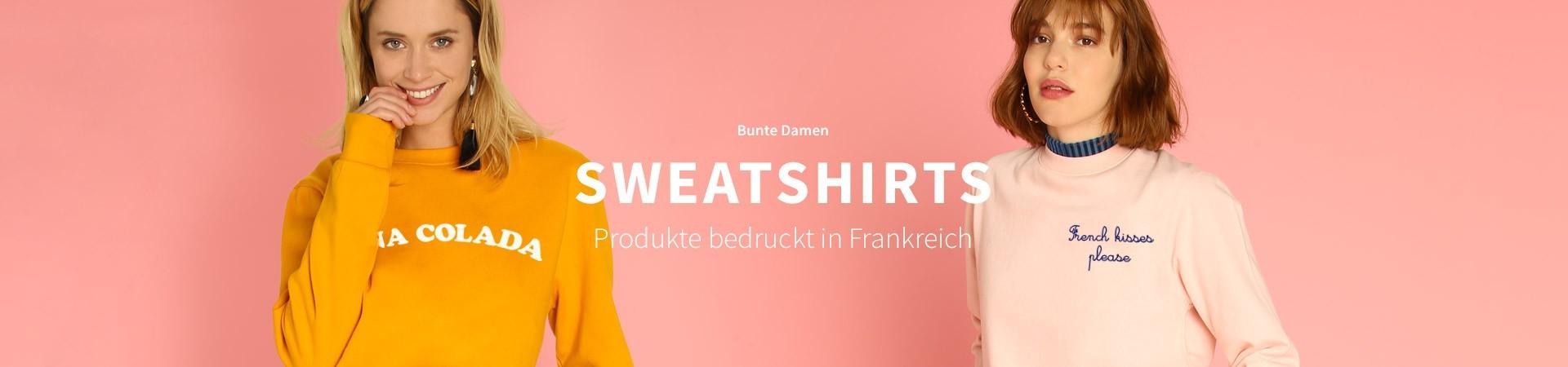 Bunte Sweatshirts