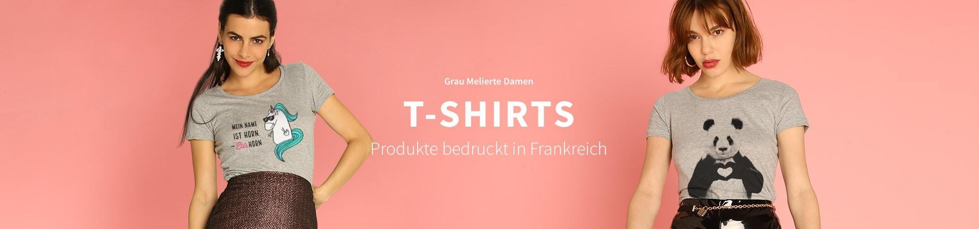 Grau Melierte T-Shirts