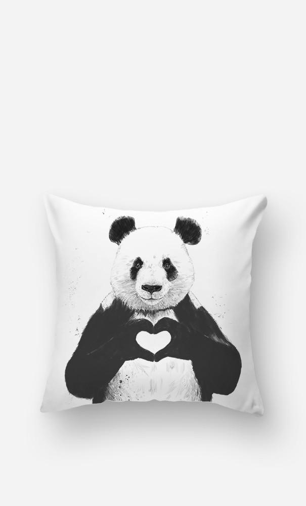 Cushion Love Panda