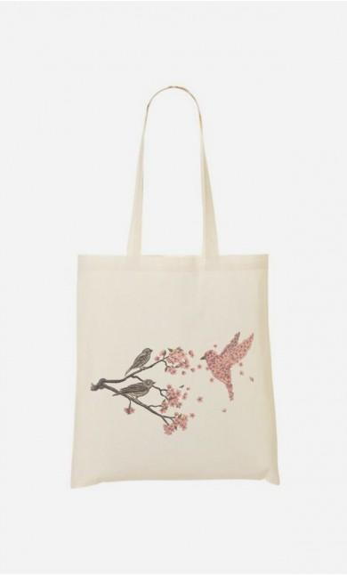 Tote Bag Blossom Bird