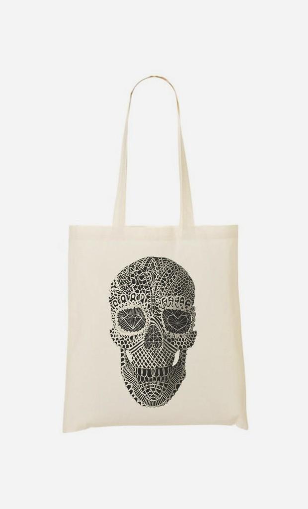 Tote Bag Lace Skull