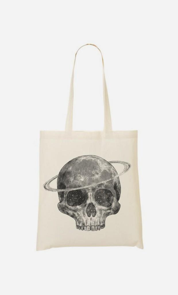 Tote Bag Cosmic Skull Black