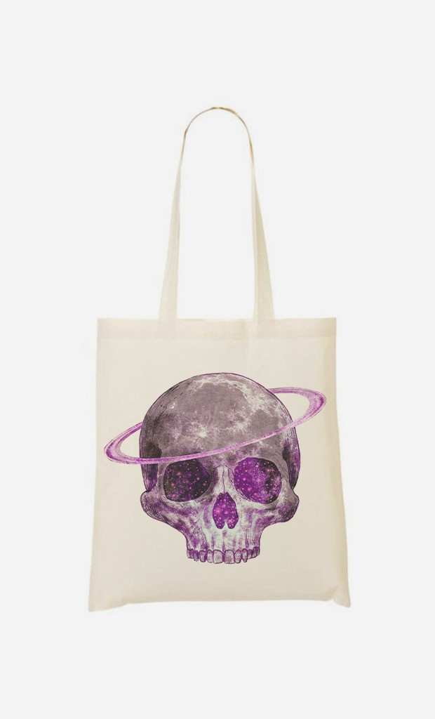 Tote Bag Cosmic Skull Purple