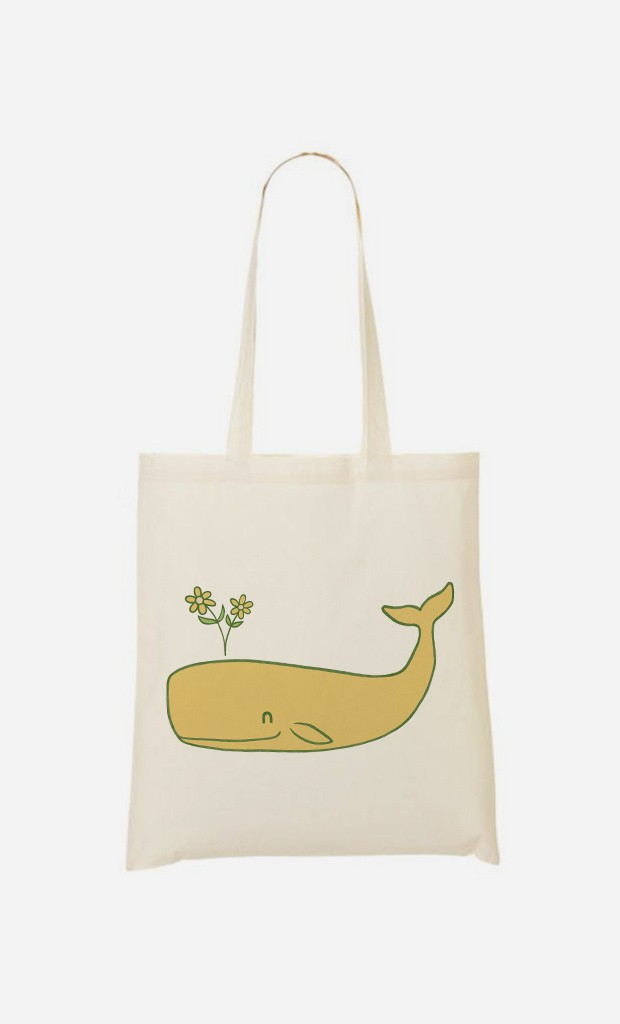 Tote Bag Peace Whale