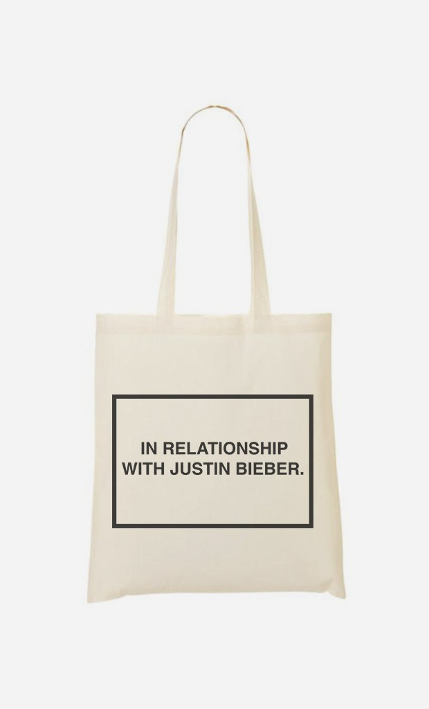 Tote Bag With Justin Bieber
