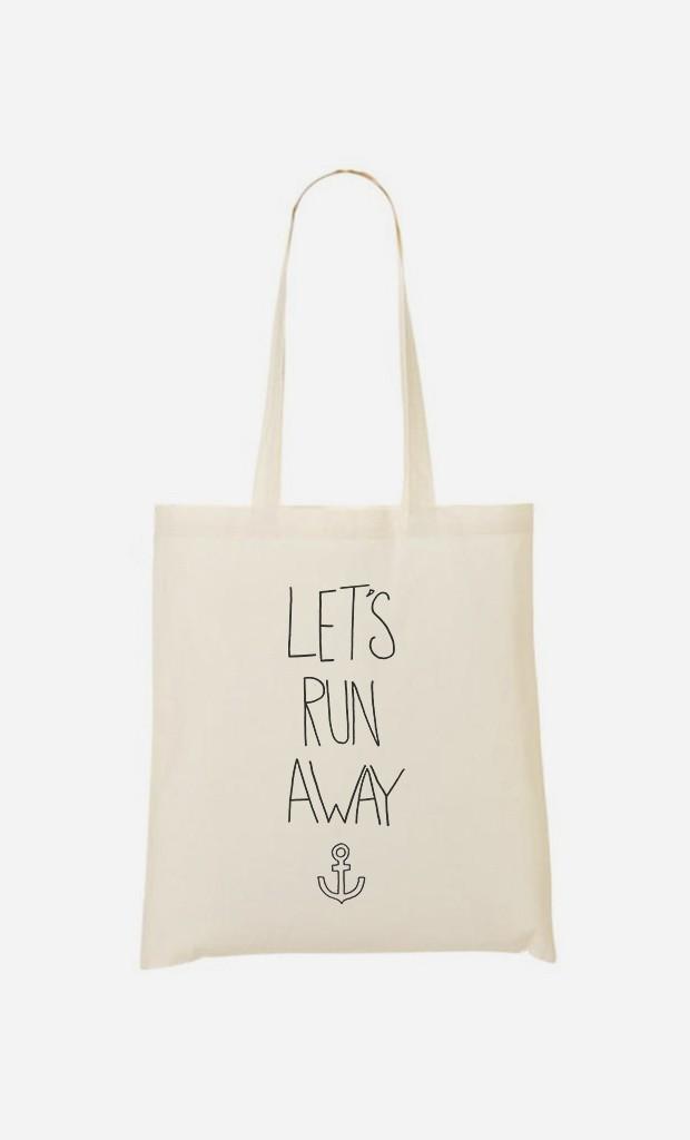 Tote Bag Let's Run Away