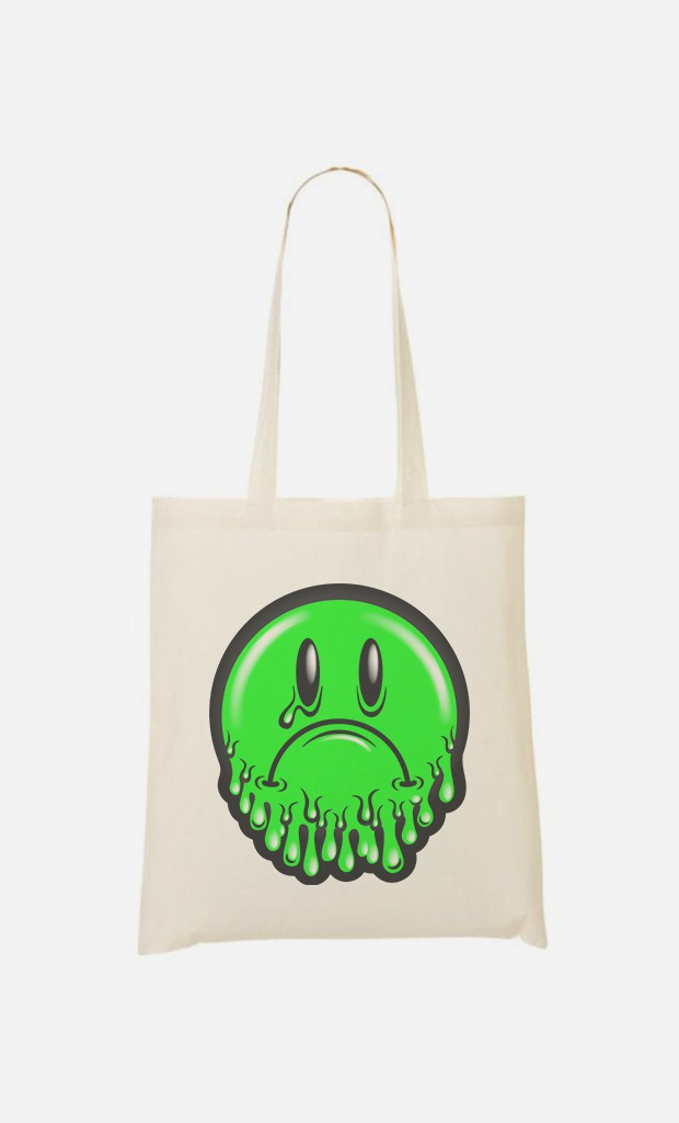 Tote Bag Sad Smiley
