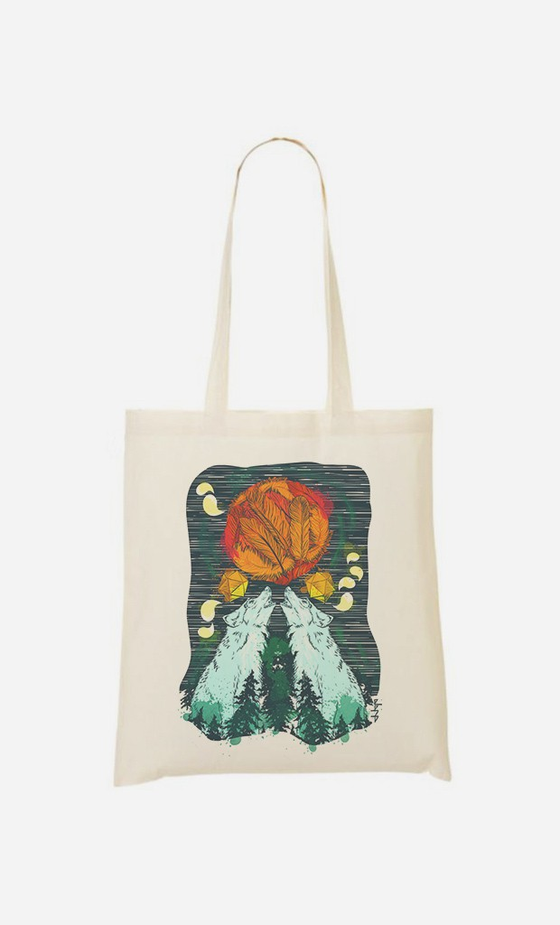 Tote Bag Two Wolves
