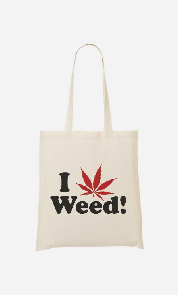 Tote Bag Love Weed