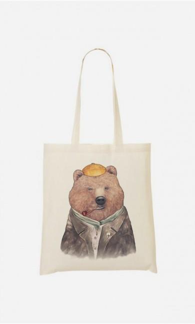Tote Bag Brown Bear