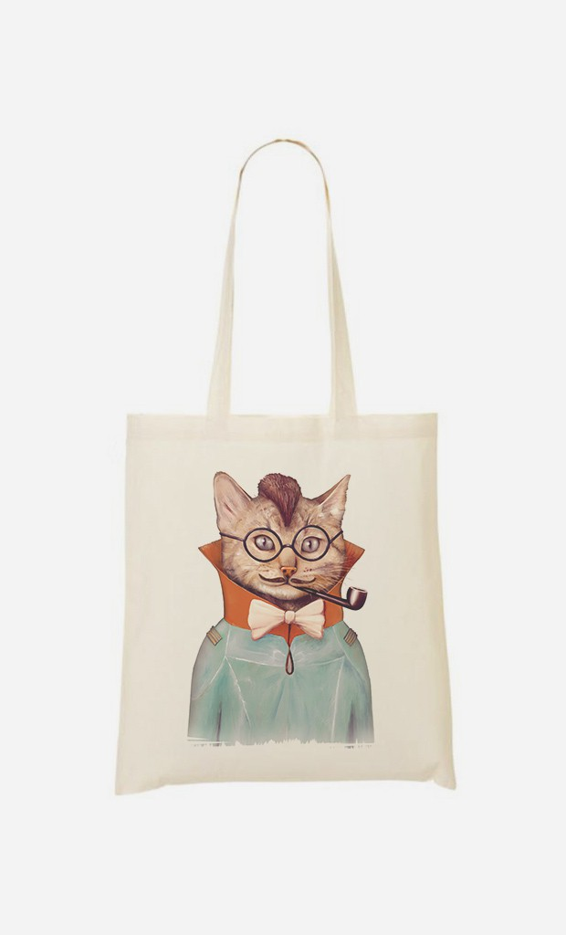 Tote Bag Electric Cat