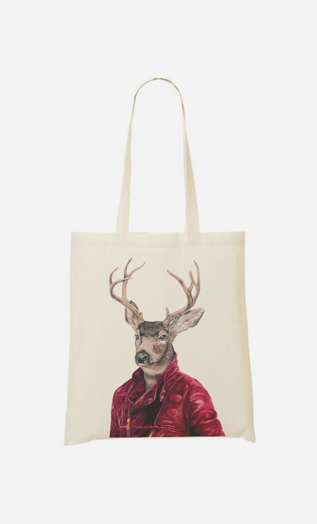 Tote Bag Red Clad Deer