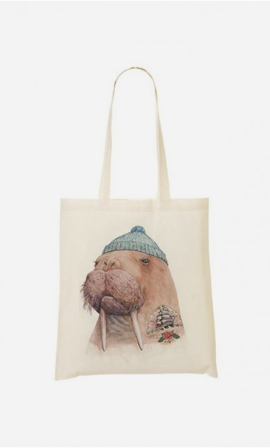 Tote Bag Tattooed Walrus