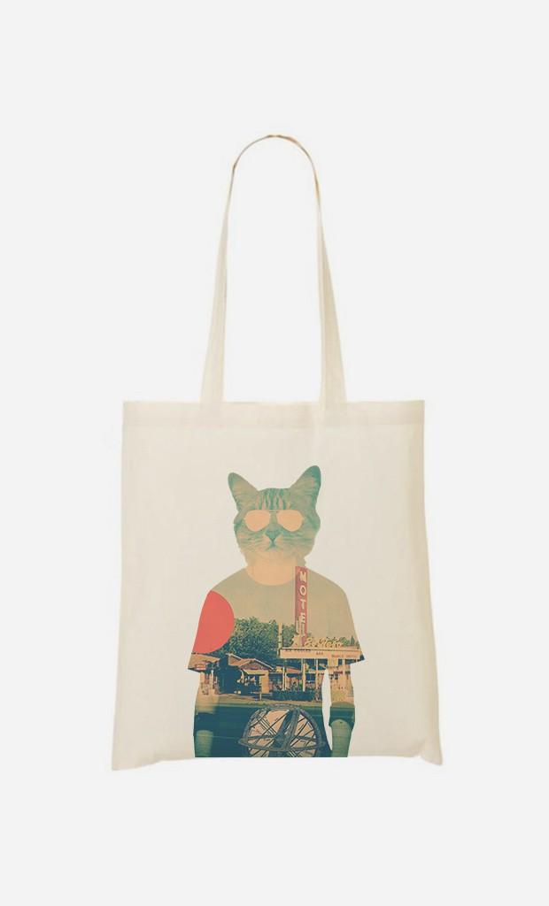 Tote Bag Cool Cat