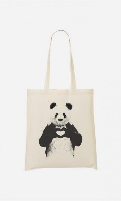 Tote Bag Love Panda