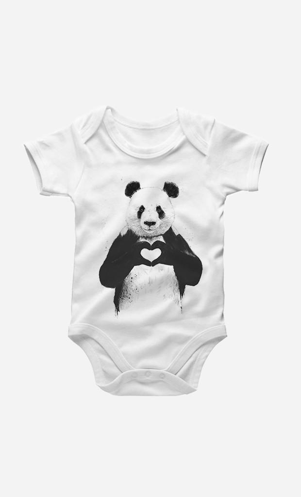 Bodysuit Love Panda