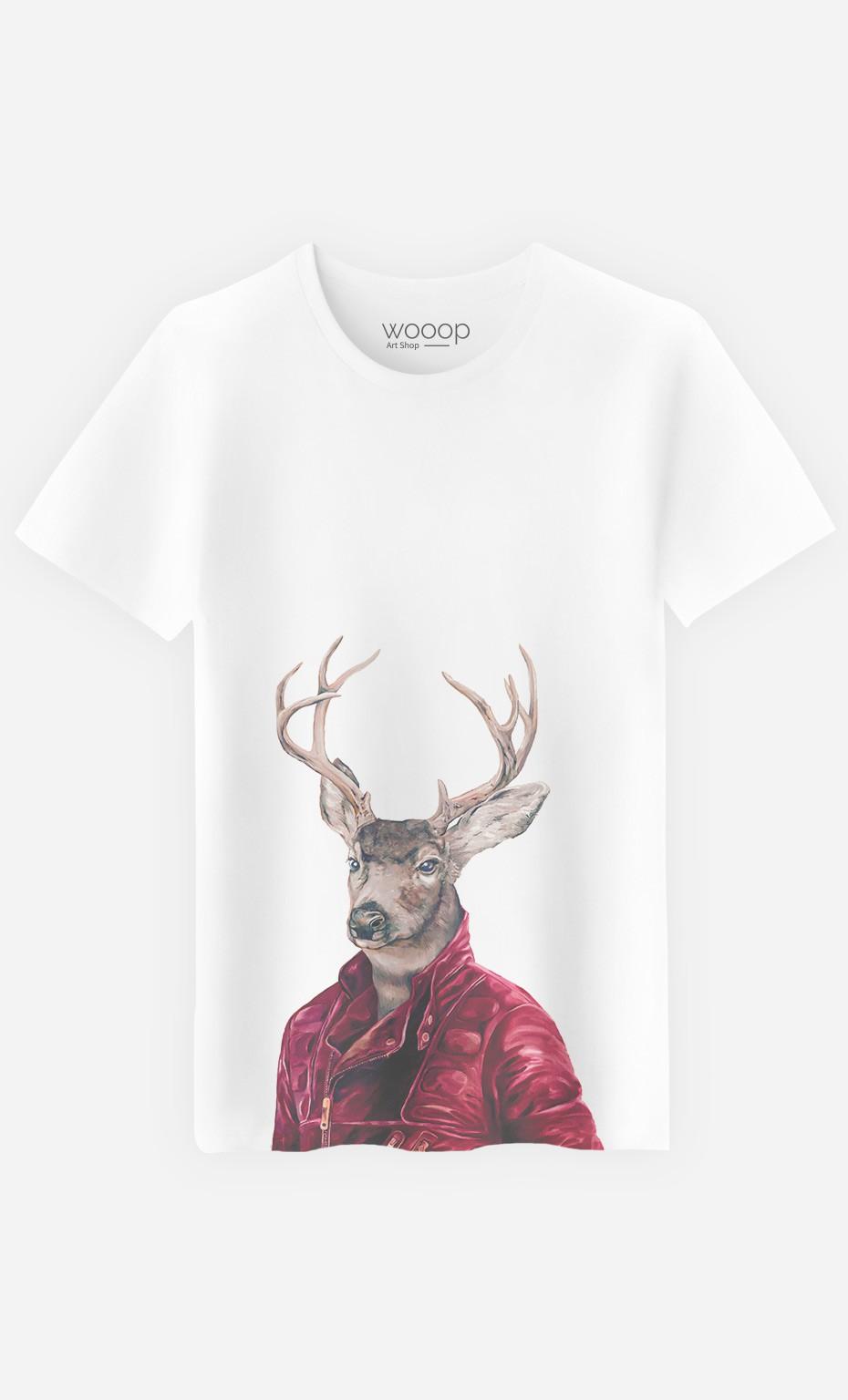 T-Shirt Red Clad Deer