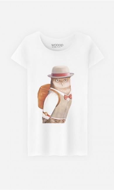 T-Shirt Owl Traveller