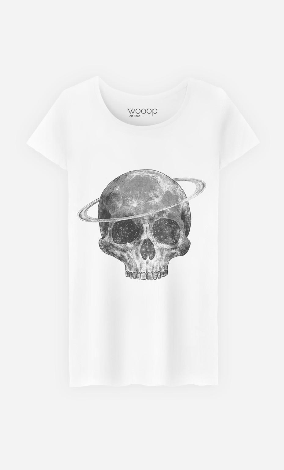 T-Shirt Cosmic Skull Black