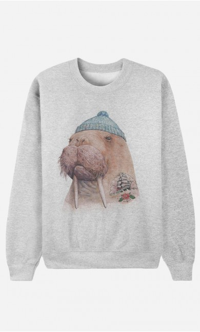 Sweatshirt Tattooed Walrus