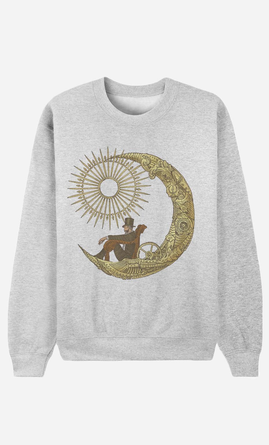 Sweatshirt Moon Travel