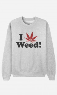 Sweatshirt Love Weed