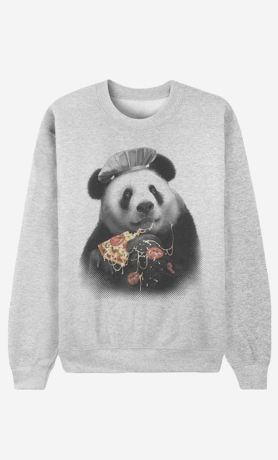 Sweatshirt Panda Pizza