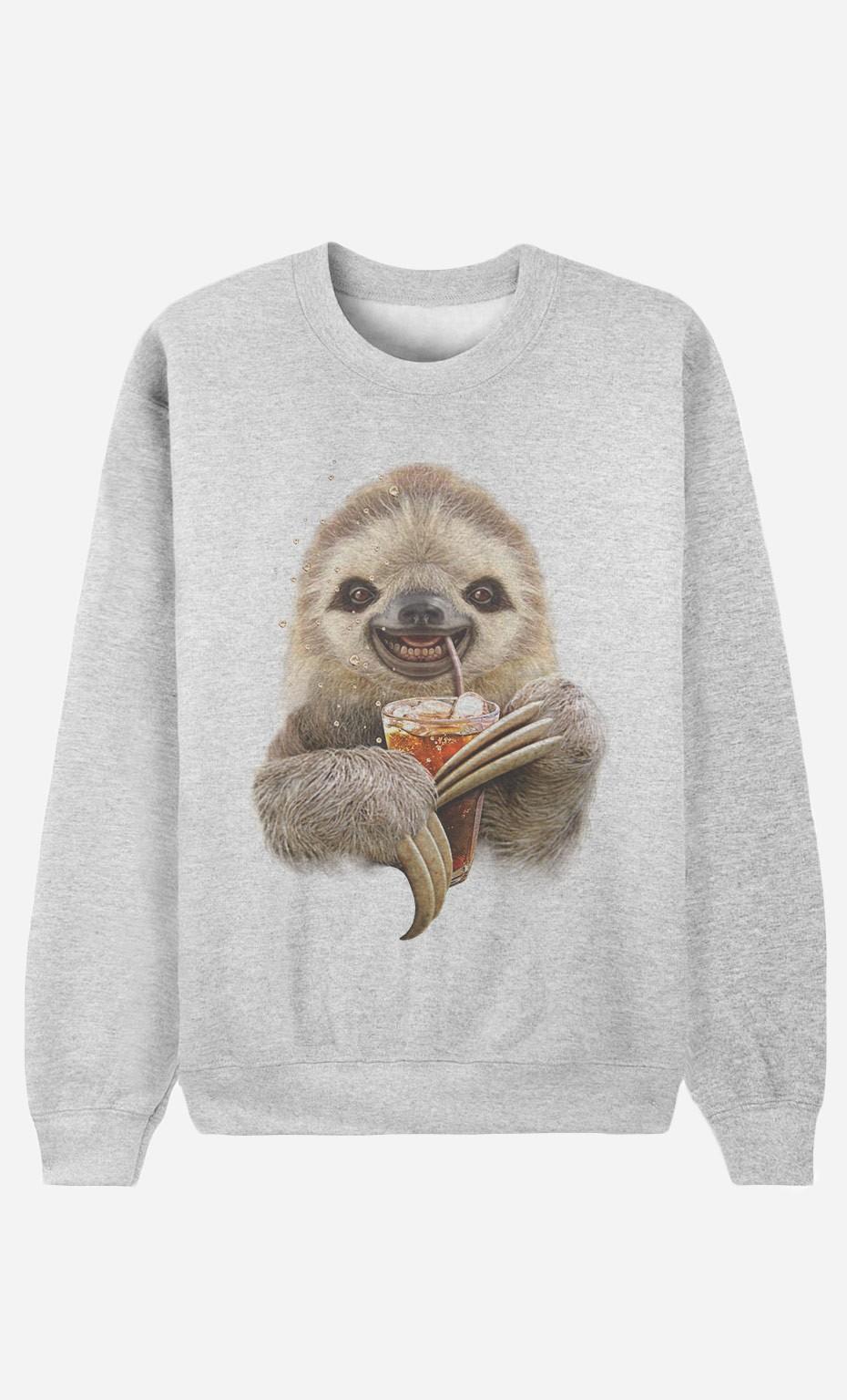 Sweatshirt Sloth & Drink