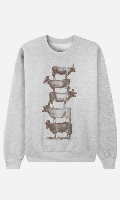 Sweatshirt Cow Cow Nuts