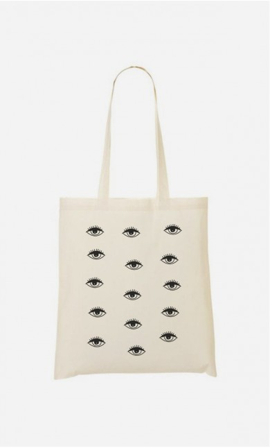 Tote Bag Psychedelic Eyes
