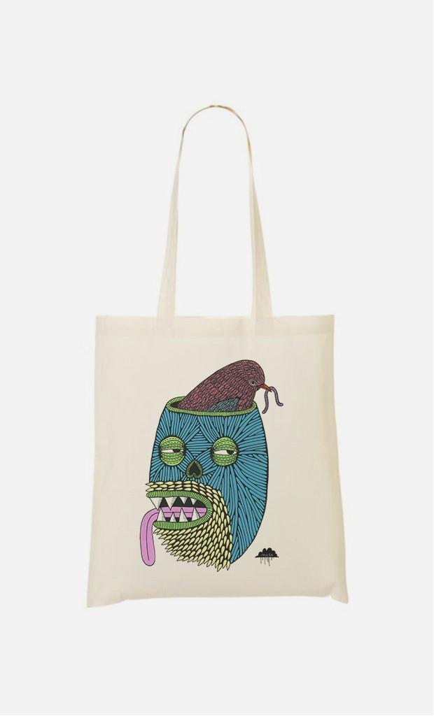 Tote Bag Bird Brain