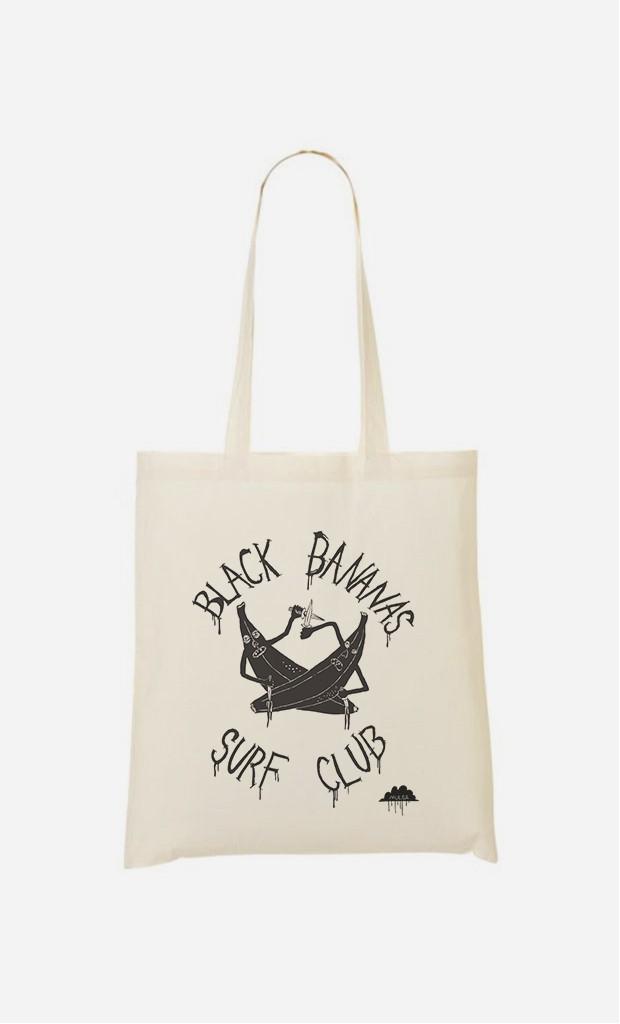 Tote Bag Black Bananas