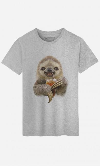 T-Shirt Sloth & Drink