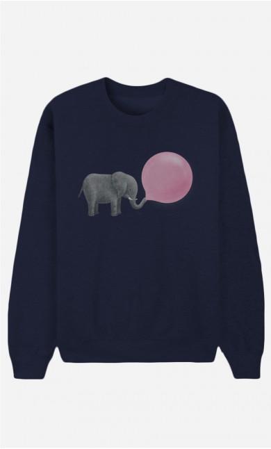 Blue Sweatshirt Jumbo Bubble Gum