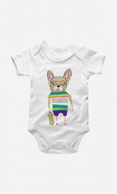 Bodysuit French Bulldog Skater